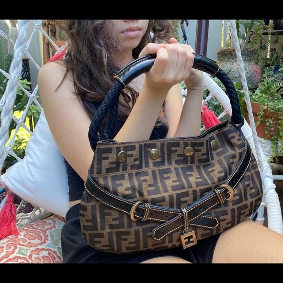 Authentic Fendi Zucca Rope Satchel Bag Gorgeous!